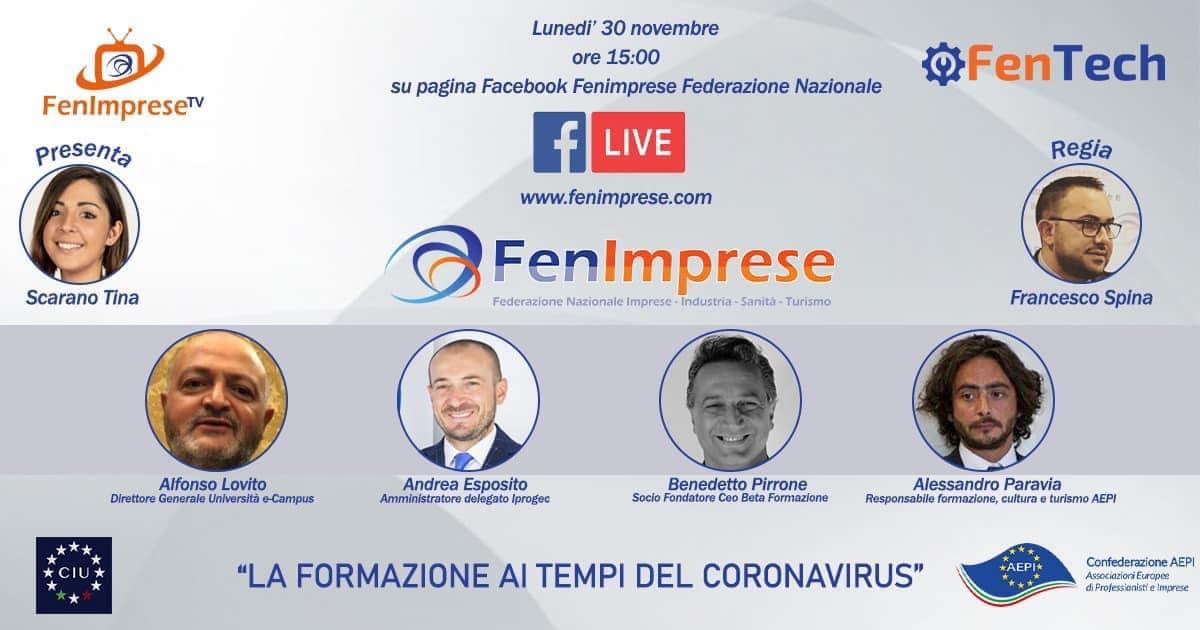 """""""La formazione ai tempi del coronavirus"""" ne parliamo con i maggiori players italiani."""