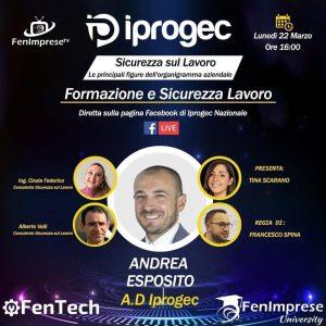 Le Principali figure dell'organigramma aziendale. L' Amministratore Delegato Iprogec, Andrea Esposito, incontrerà imprenditori esperti nel settore